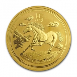 Zlatá mince Lunar II, 1 Oz Rok koně 2014/Year of the Horse
