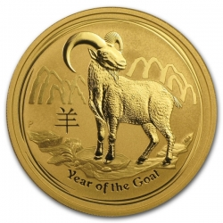 Zlatá mince Lunar II, 1 Oz Rok kozy 2015/Year of the Goat