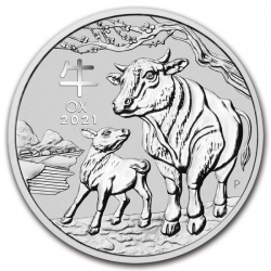 Stříbrná mince Lunar III, 1 Oz Rok buvola 2021/Year of the Ox