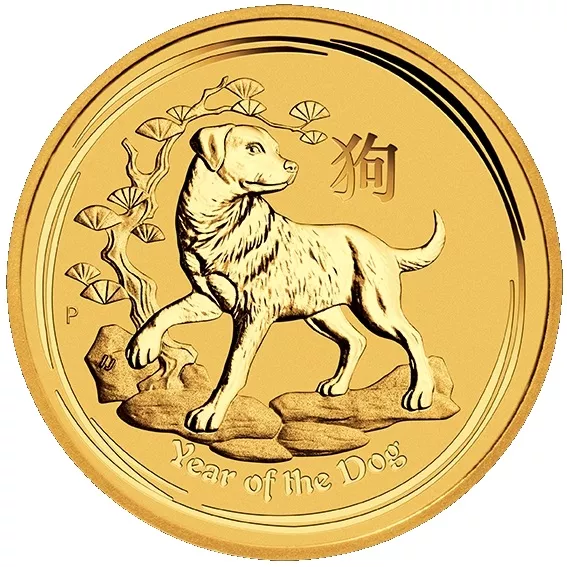 Zlatá mince Lunar 1 Oz Rok psa 2018/Year of the Dog